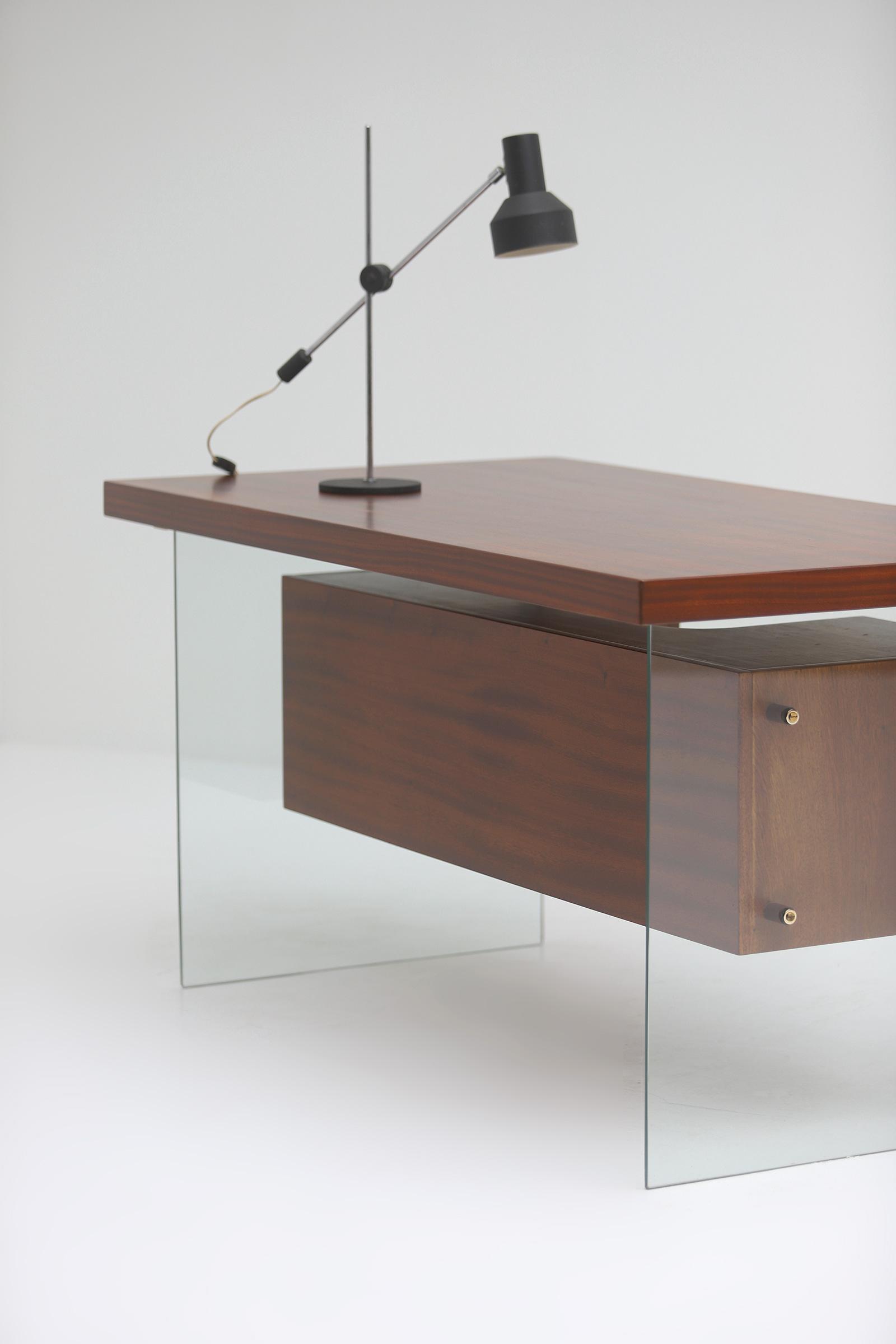 Modernist desk in the manner of Jacques Dumond, 1950simage 4