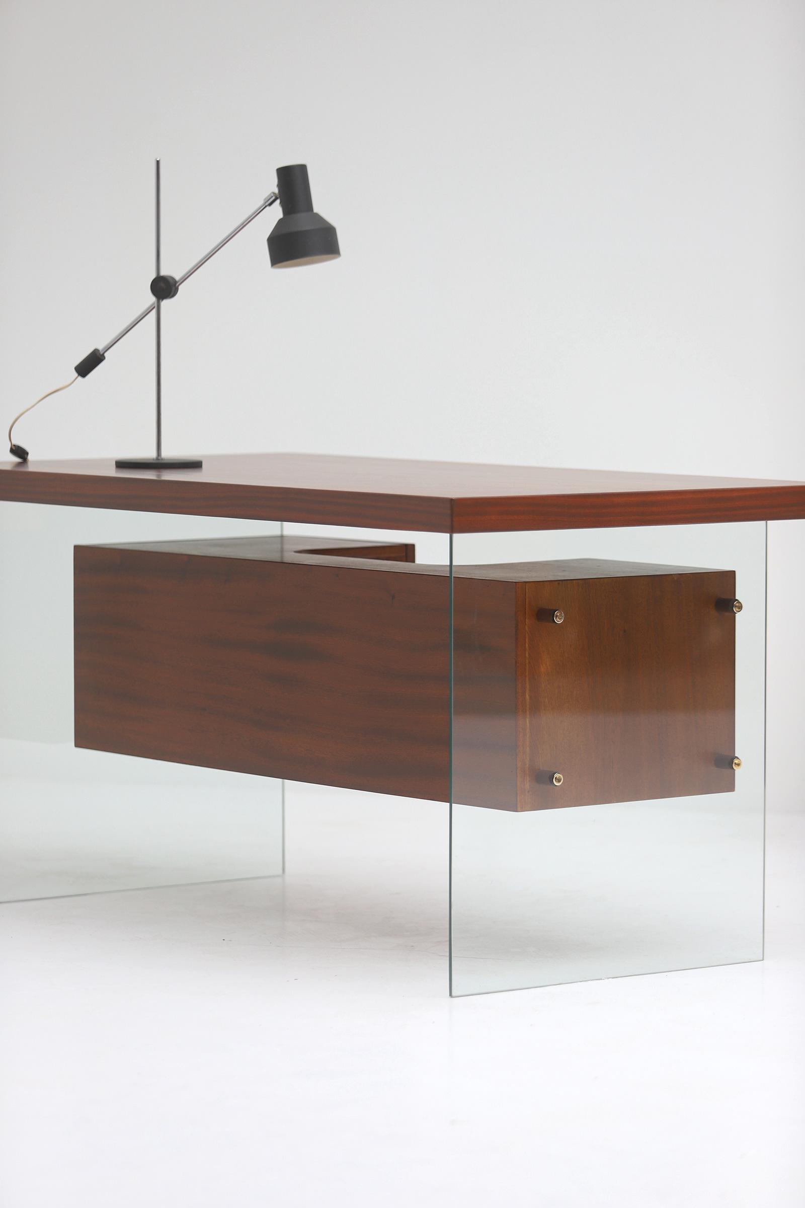 Modernist desk in the manner of Jacques Dumond, 1950simage 3