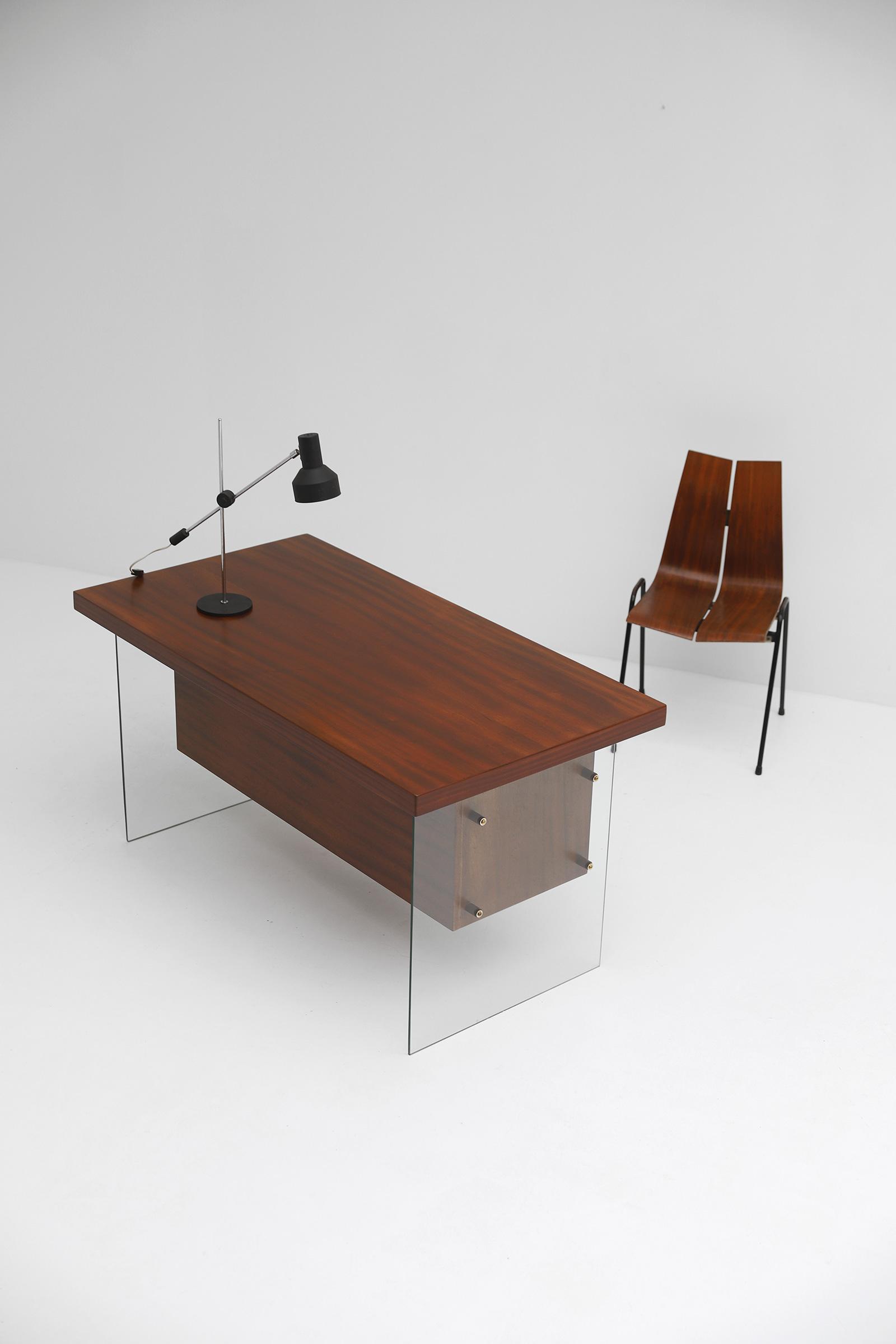 Modernist desk in the manner of Jacques Dumond, 1950simage 5