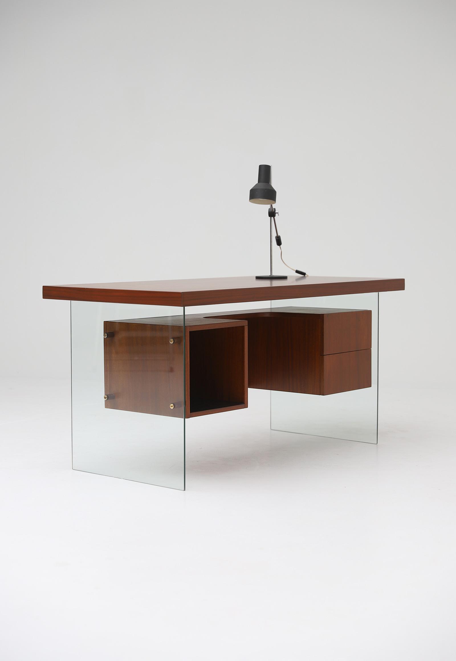 Modernist desk in the manner of Jacques Dumond, 1950simage 6