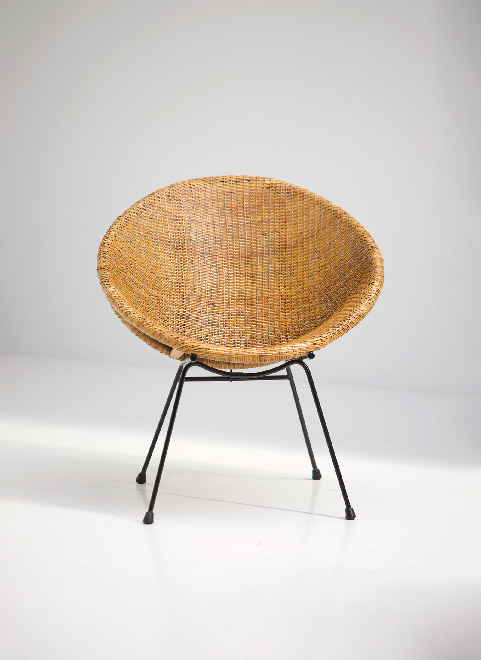 Dirk Van Sliedrecht Rattan Side Chair