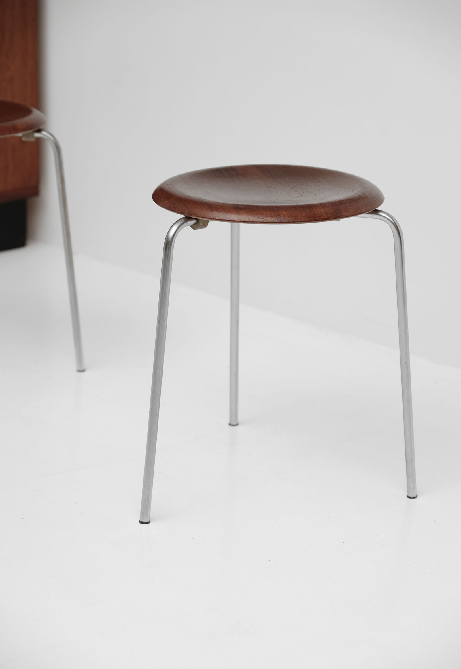 Two Arne Jacobsen Dot Stacking Stools
