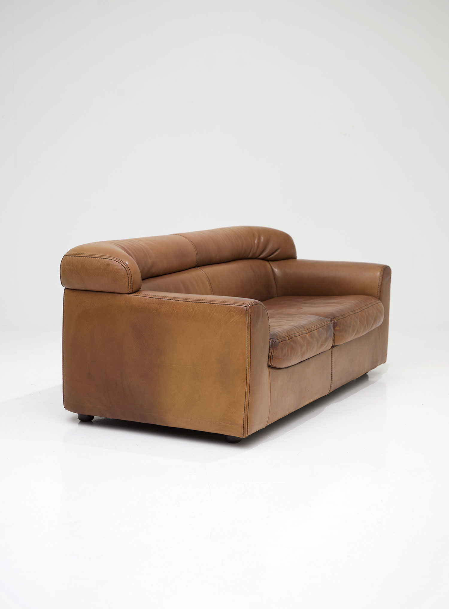 durlet leather two seat sofa