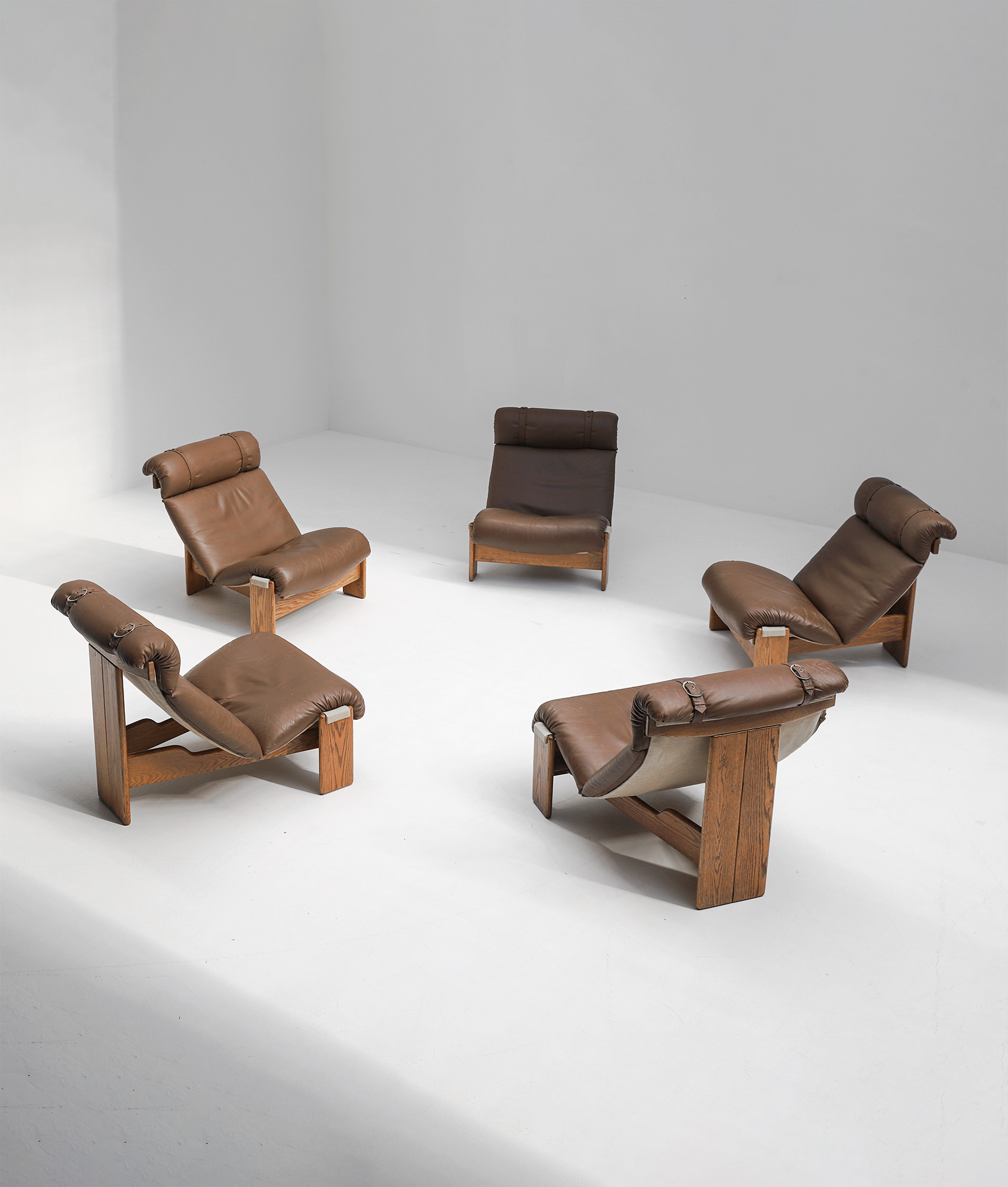 Set of 5 sling chairs 1970simage 2