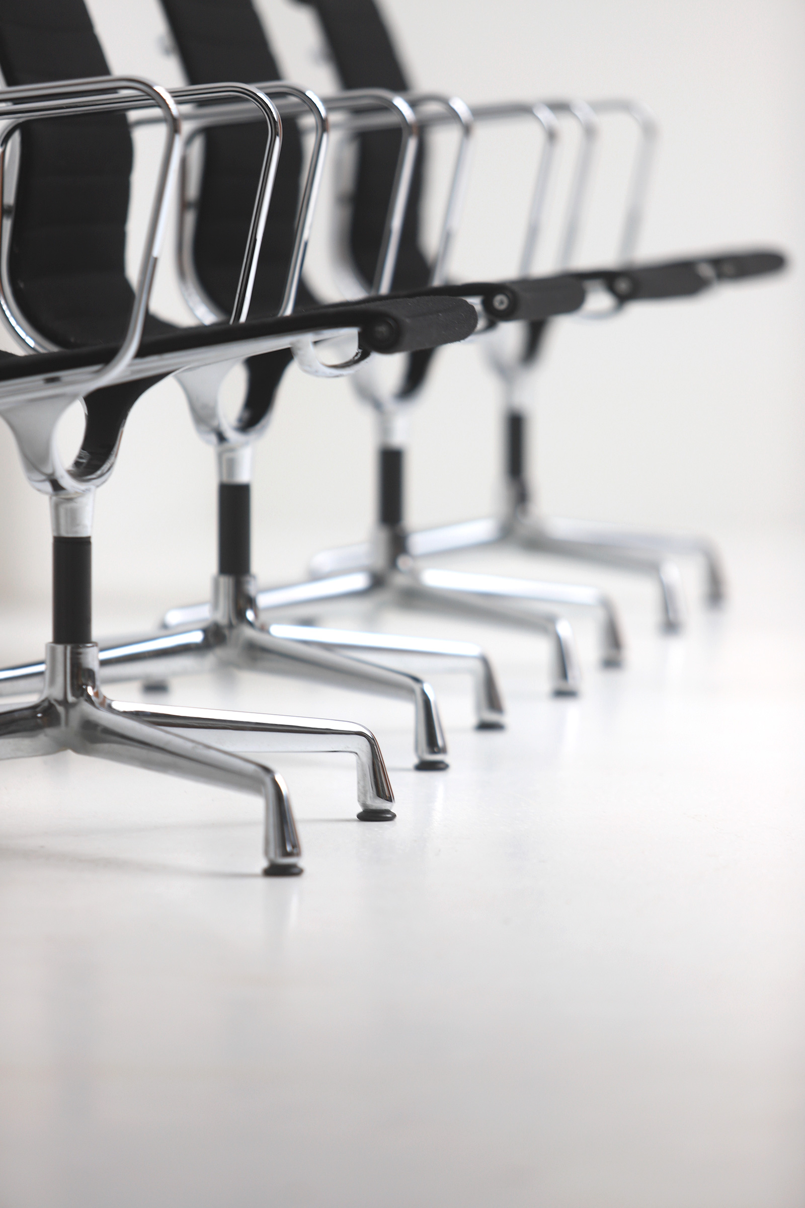 Set of Eames office chairs EA108image 7