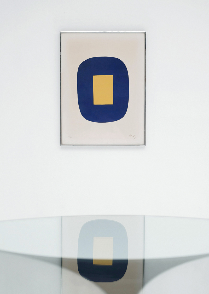 ELLSWORTH KELLY BLUE AND YELLOW
