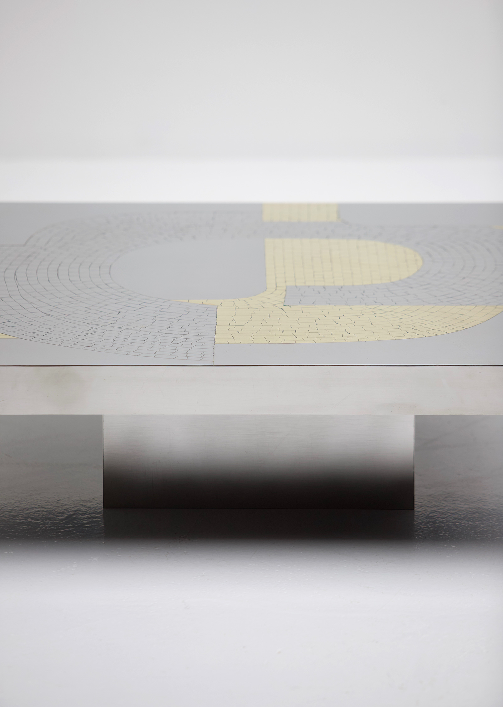 Fernand Dresse Original Aluminum Coffee Table
