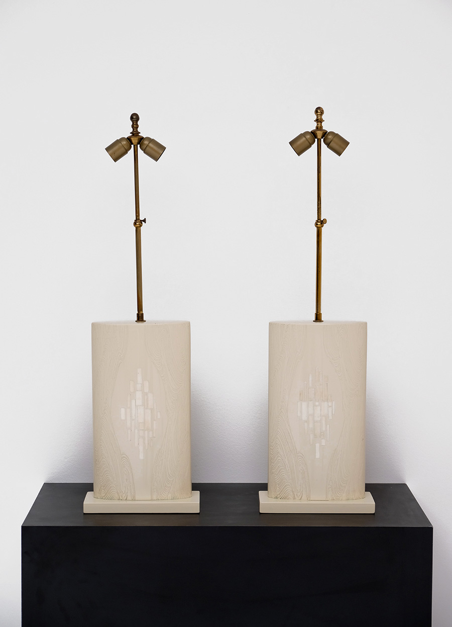 Pair of Fernand Dresse table lamps