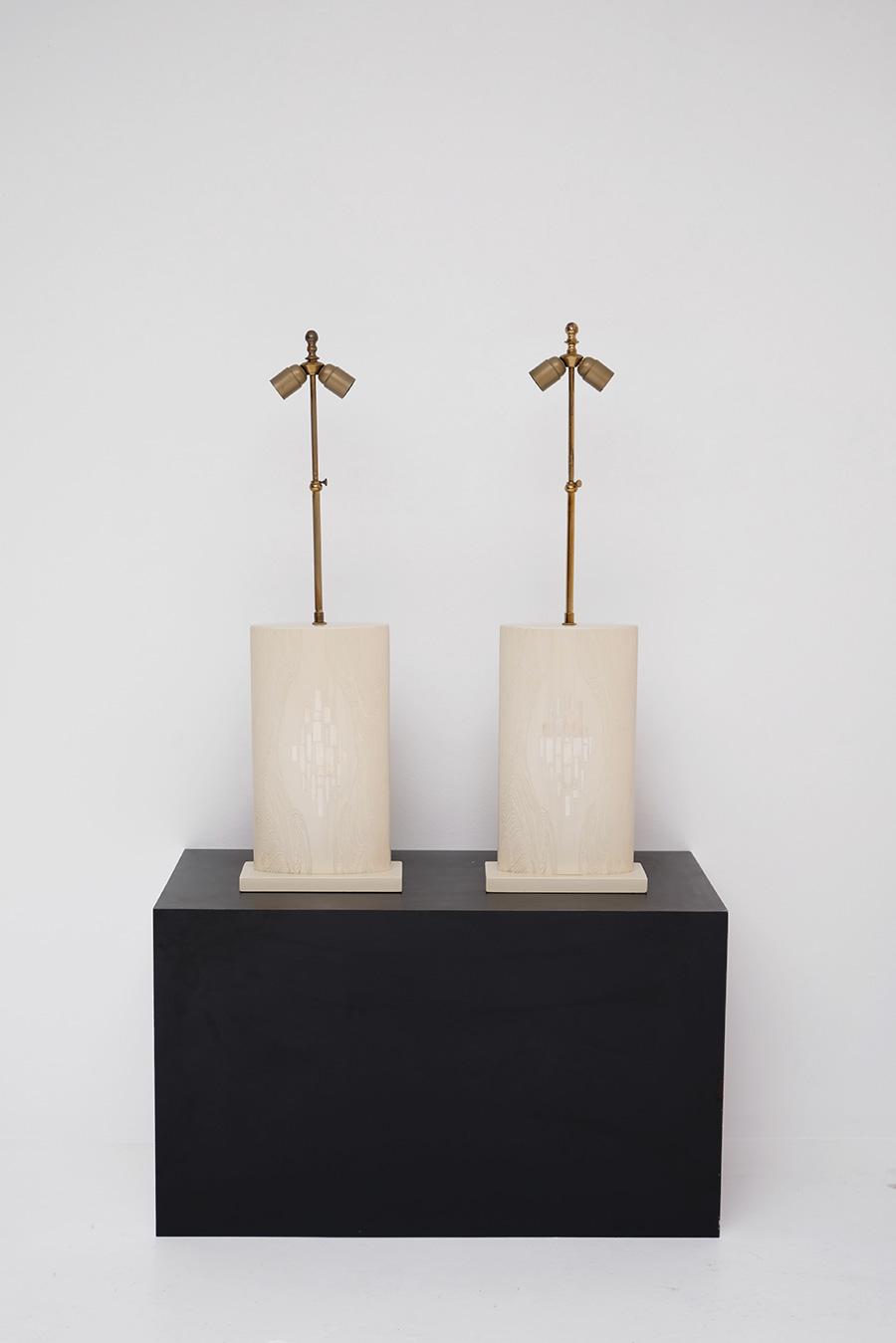 Pair of Fernand Dresse table lampsimage 1