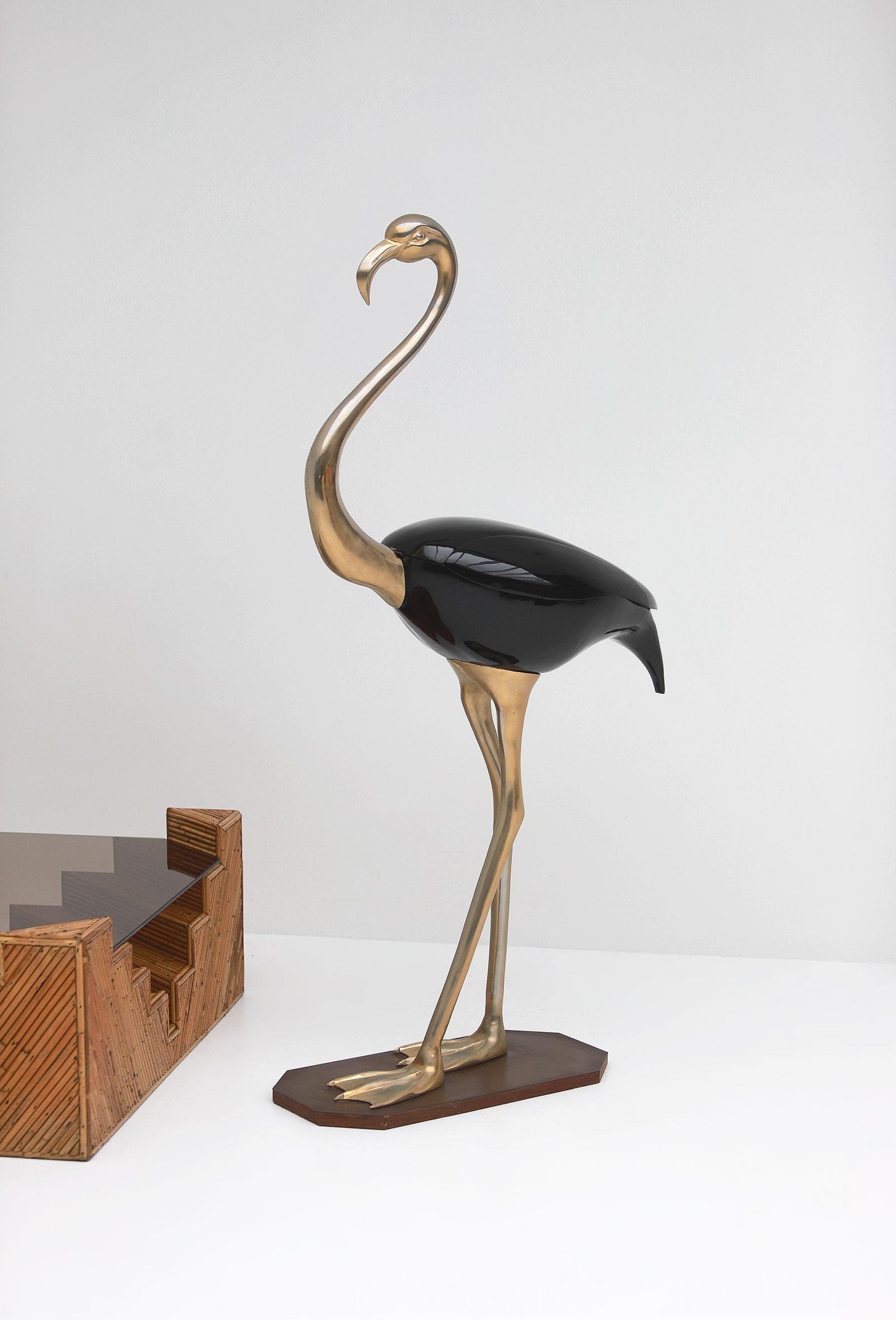 Fondica Lifesize Brass Flamingo 1970simage 1