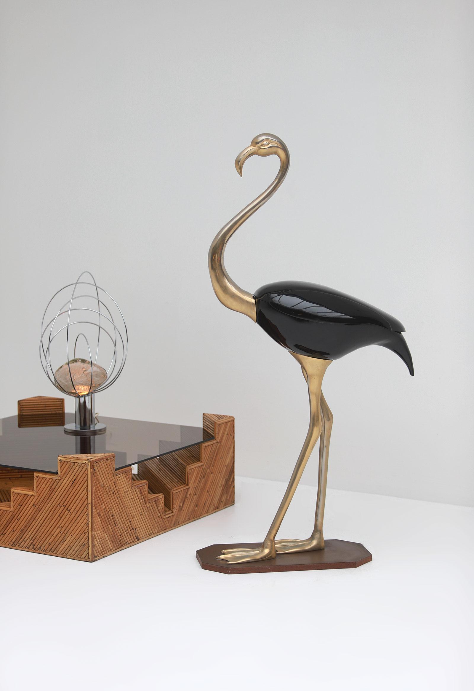 Fondica Lifesize Brass Flamingo 1970simage 9