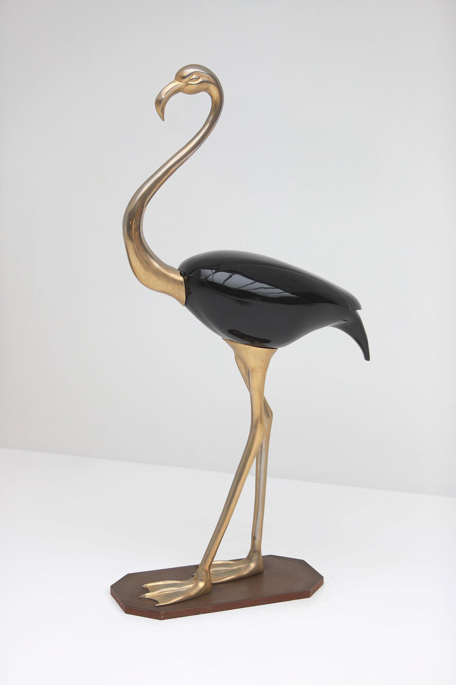 Fondica Lifesize Brass Flamingo 1970simage 2