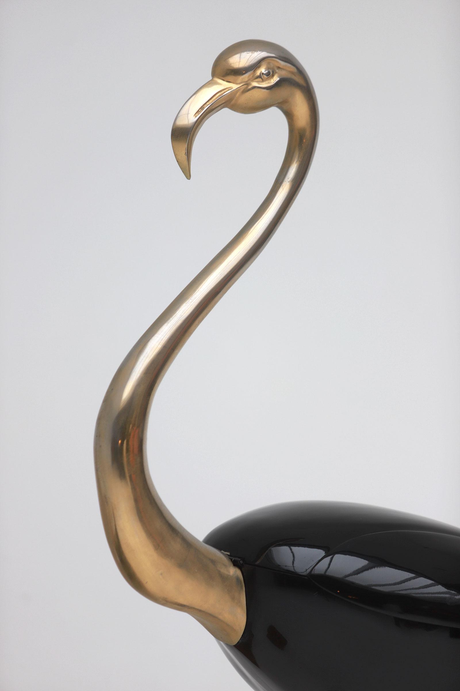 Fondica Lifesize Brass Flamingo 1970simage 10
