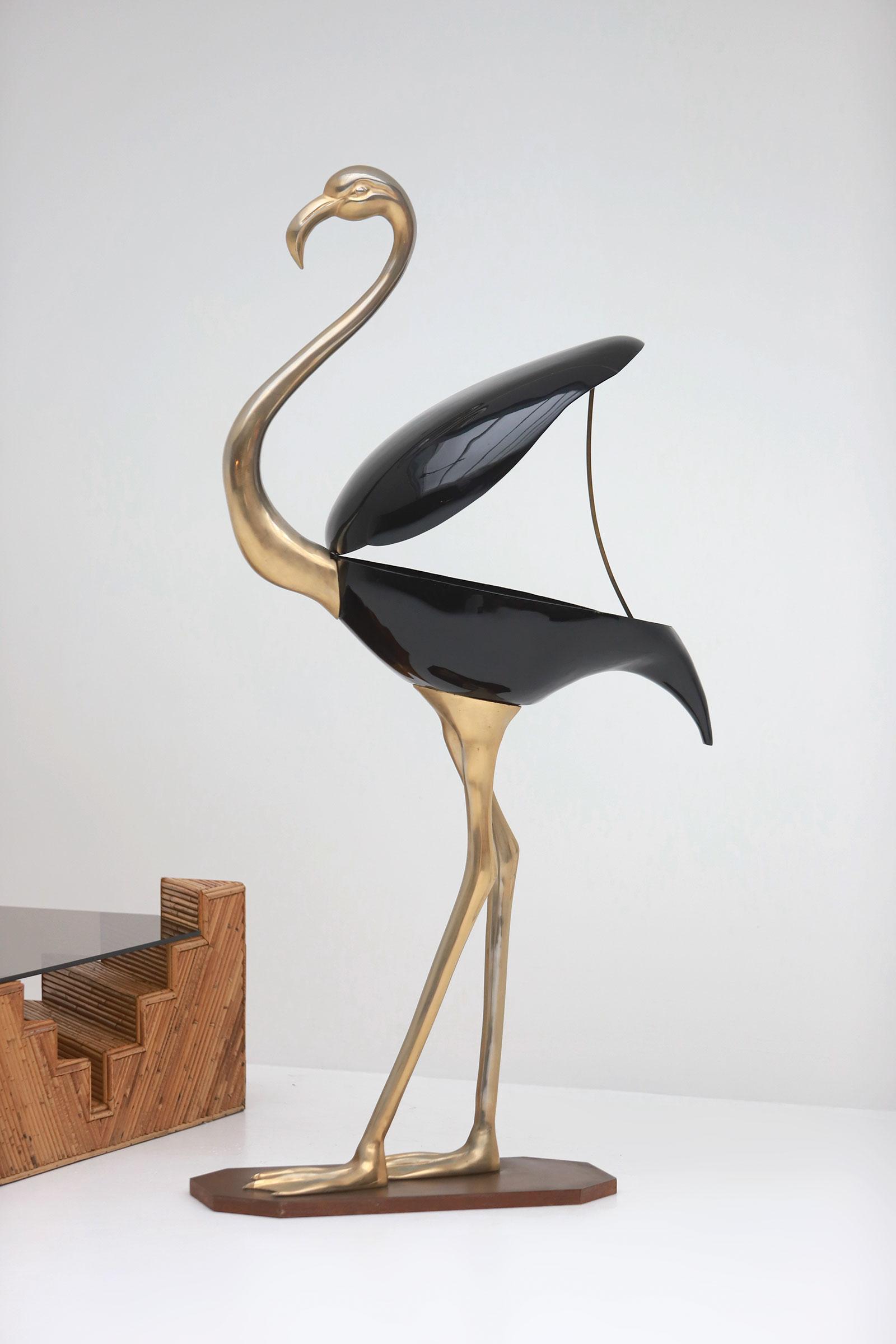 Fondica Lifesize Brass Flamingo 1970simage 5