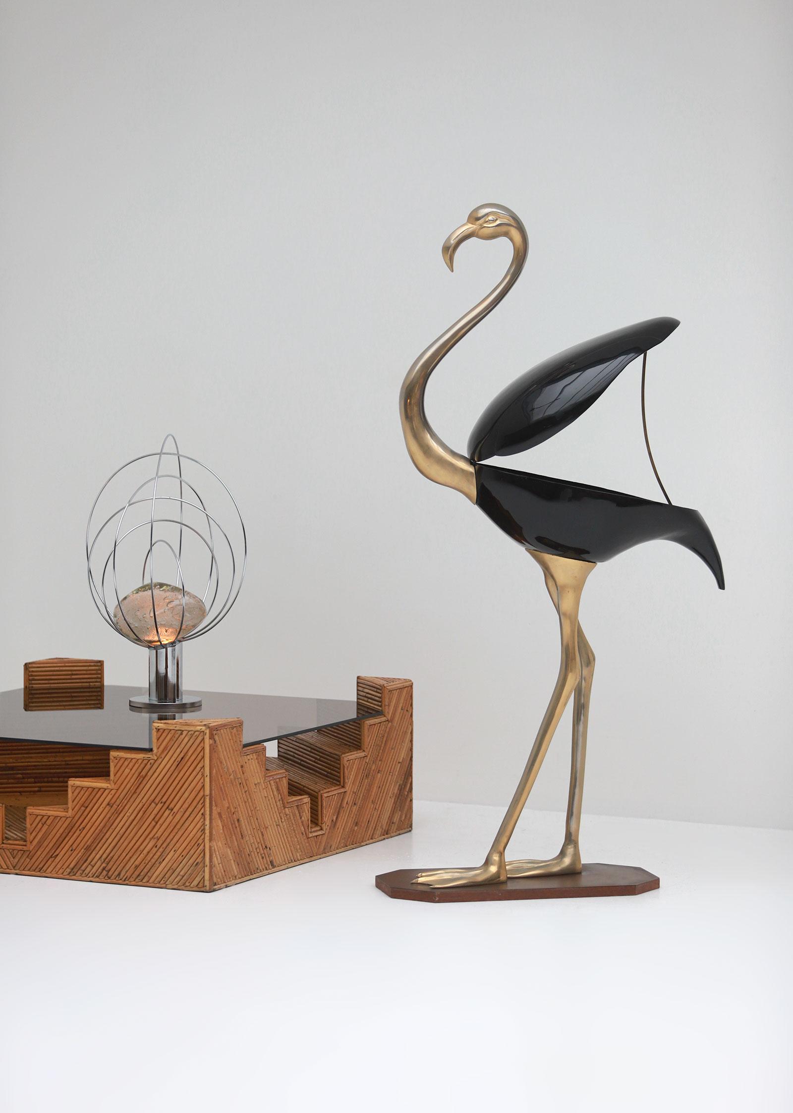 Fondica Lifesize Brass Flamingo 1970simage 4