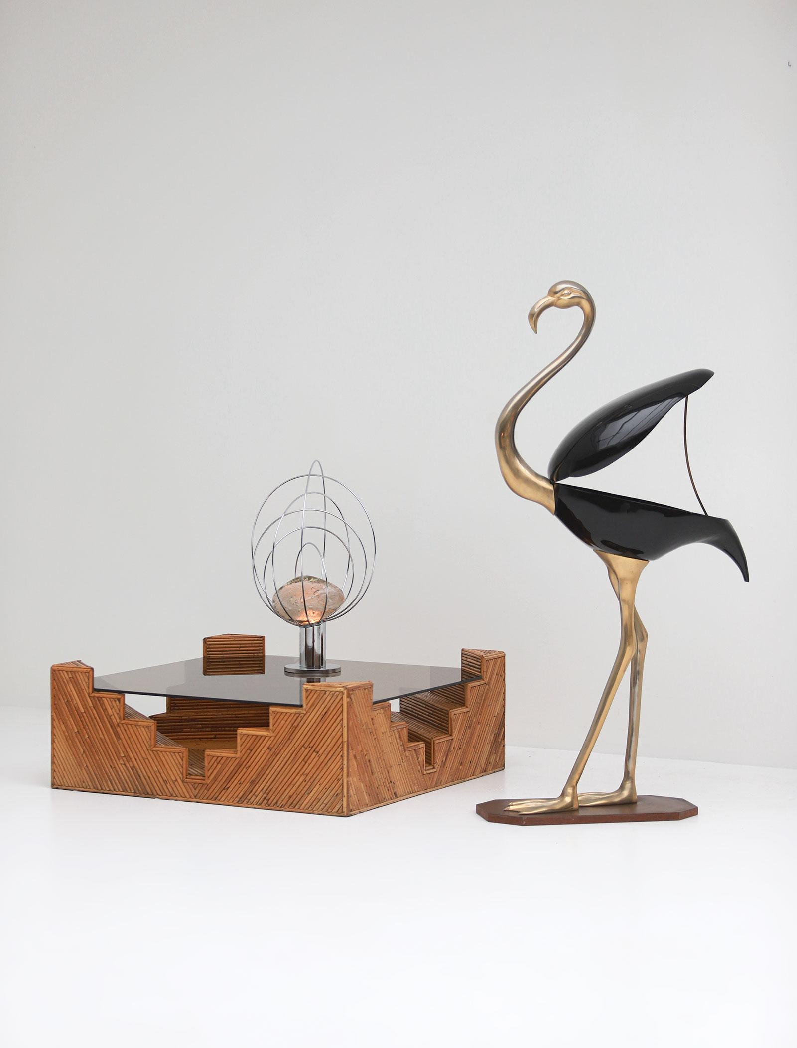 Fondica Lifesize Brass Flamingo 1970simage 3