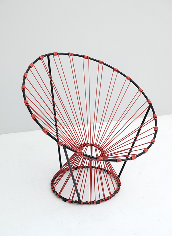 PAIR OF COQUETIER SEATS PUBLISHED BY STEINER image 3