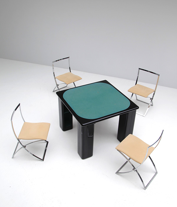 Gaming table in black lacquered wood   image 2