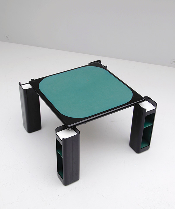 Gaming table in black lacquered wood   image 4