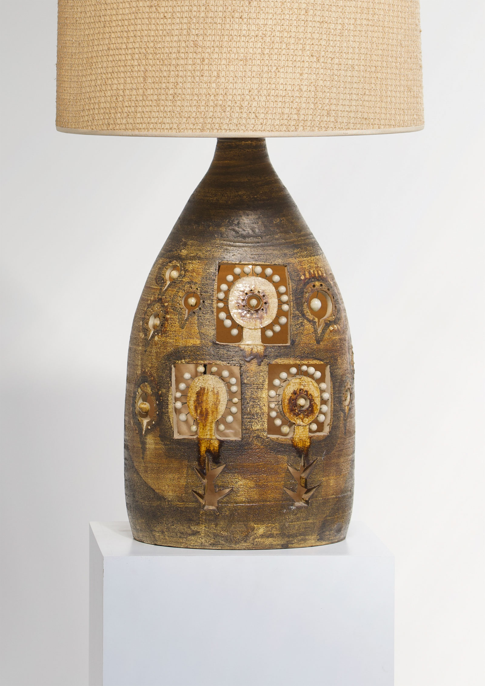 georges pelletier ceramic lamp