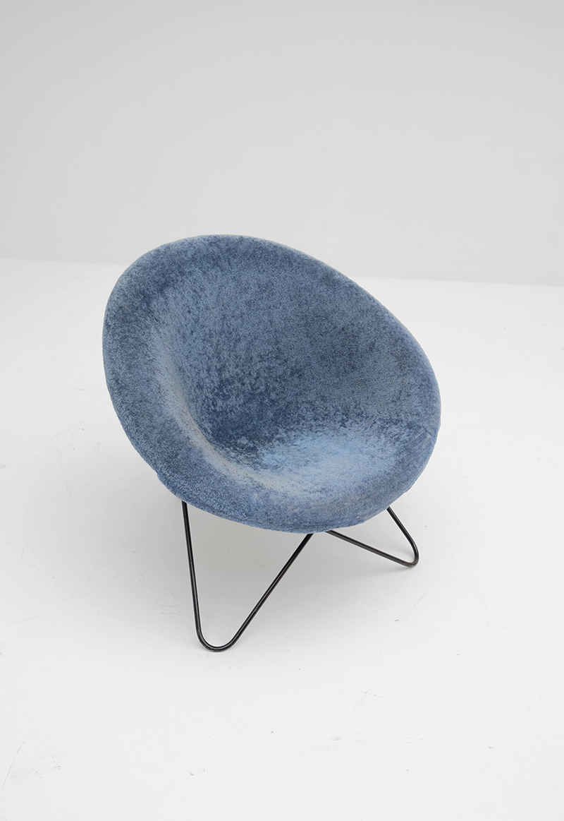 1950s Hairpin Side Chair Jean Royereimage 5