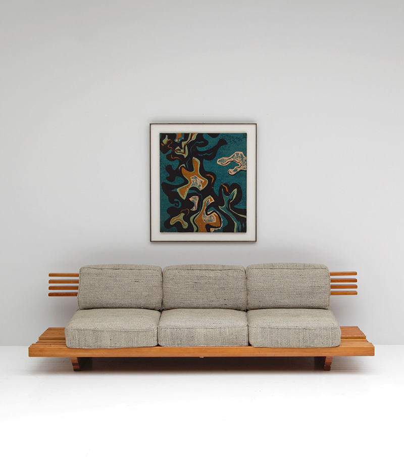 City Furniture Handcrafted Sofa Bench 1960s