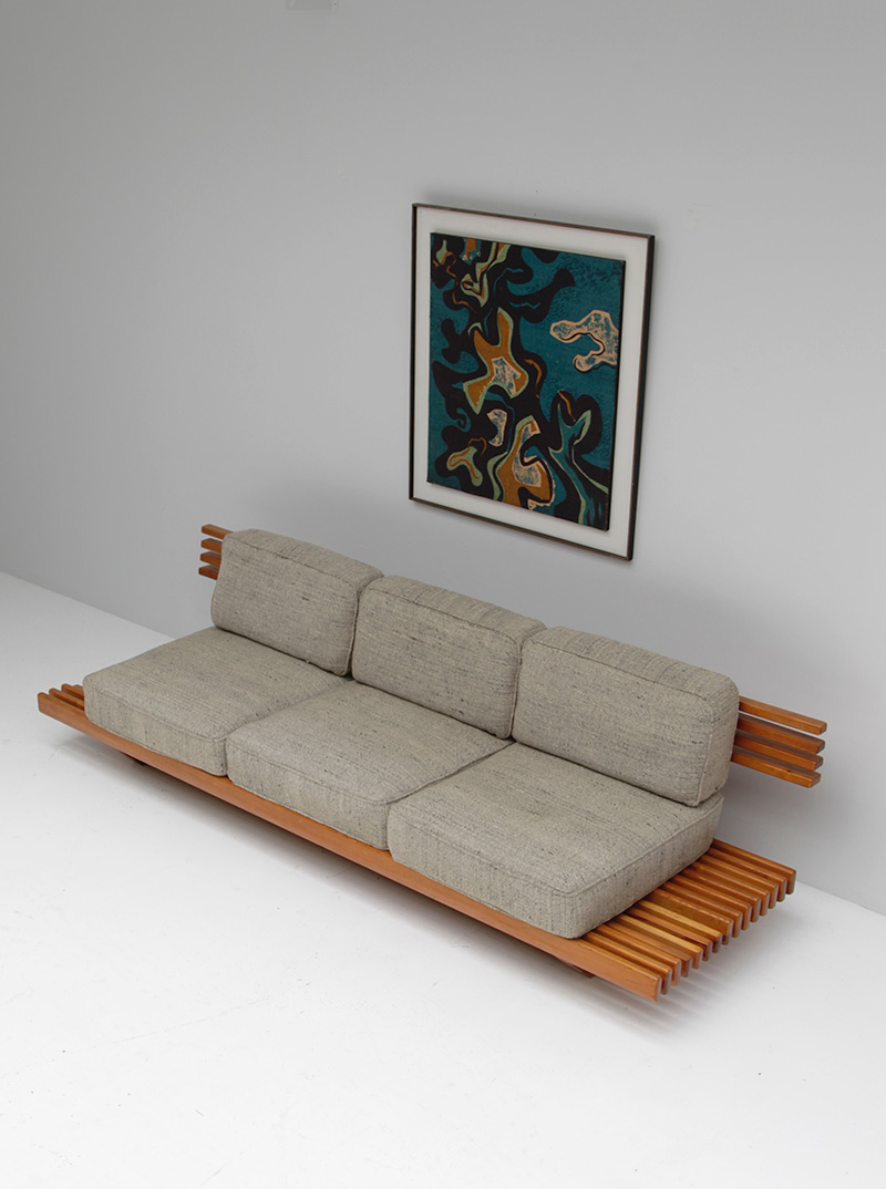 City furniture handcrafted sofa bench 1960s for 1960s furniture designers