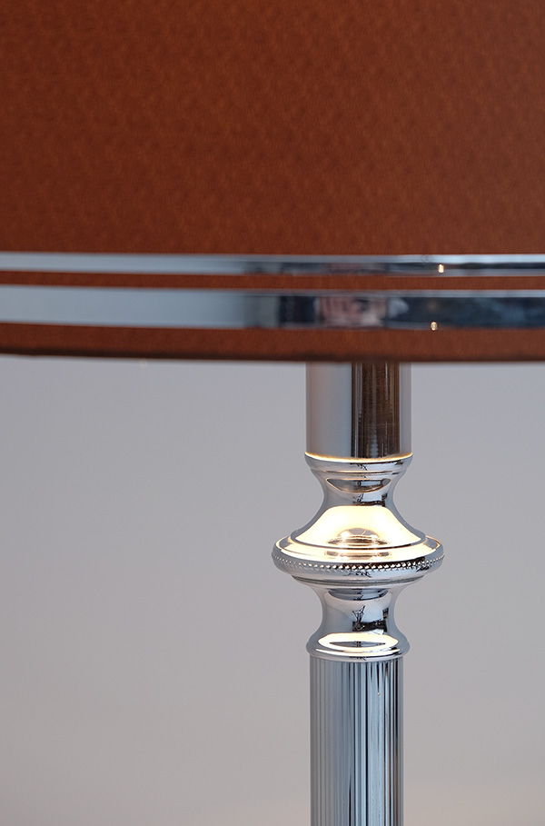 SILVER PLATED FLOOR LAMP