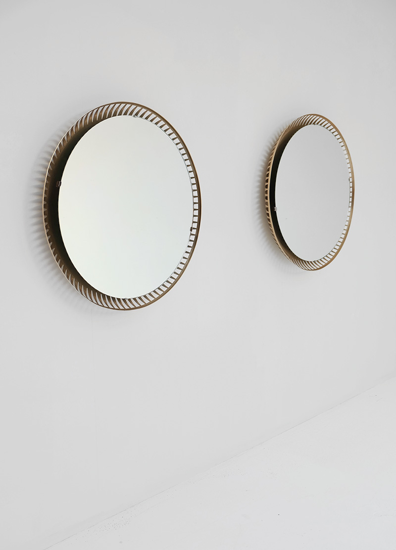 Two round Backlit mirrors