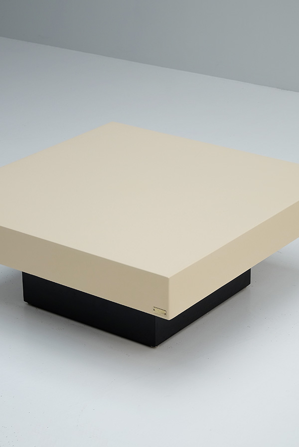 Jean-Charles, coffee table, lacquered, square