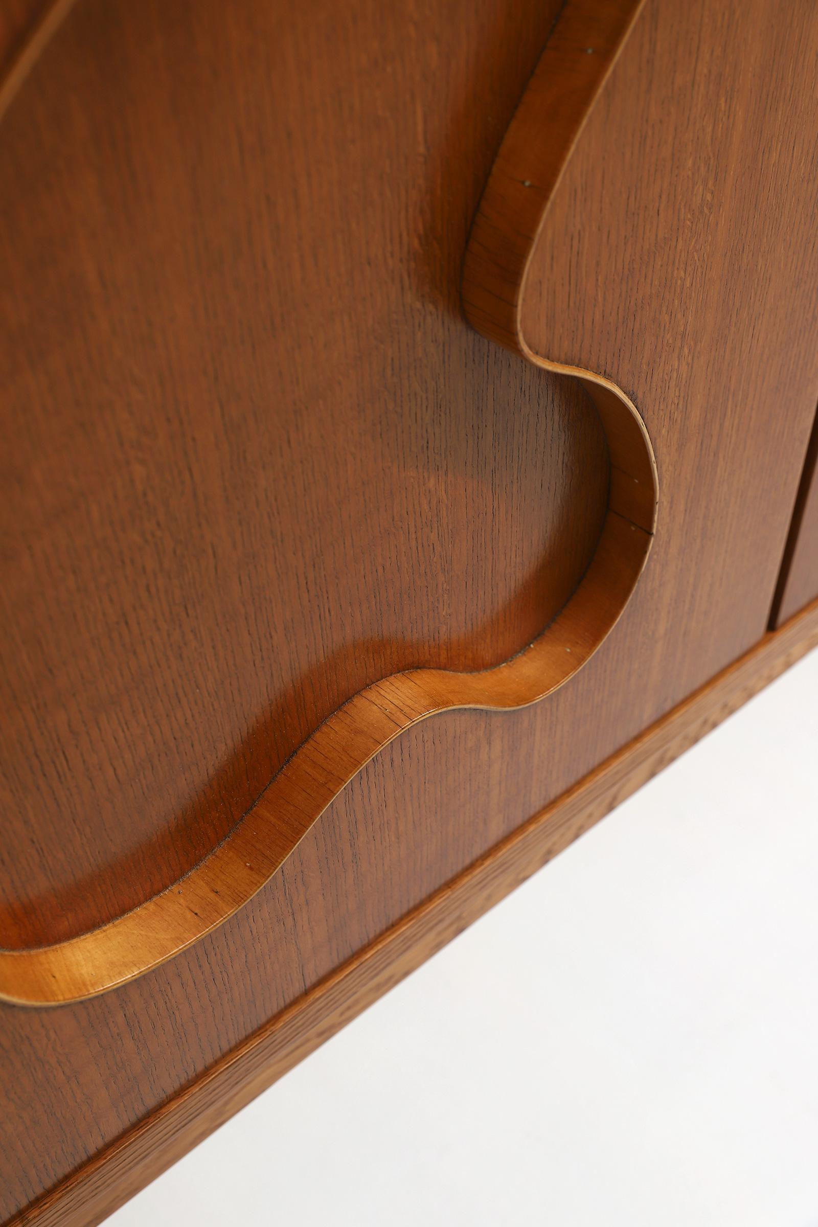 1950s Oak sideboard Free form Shaped Doors image 19