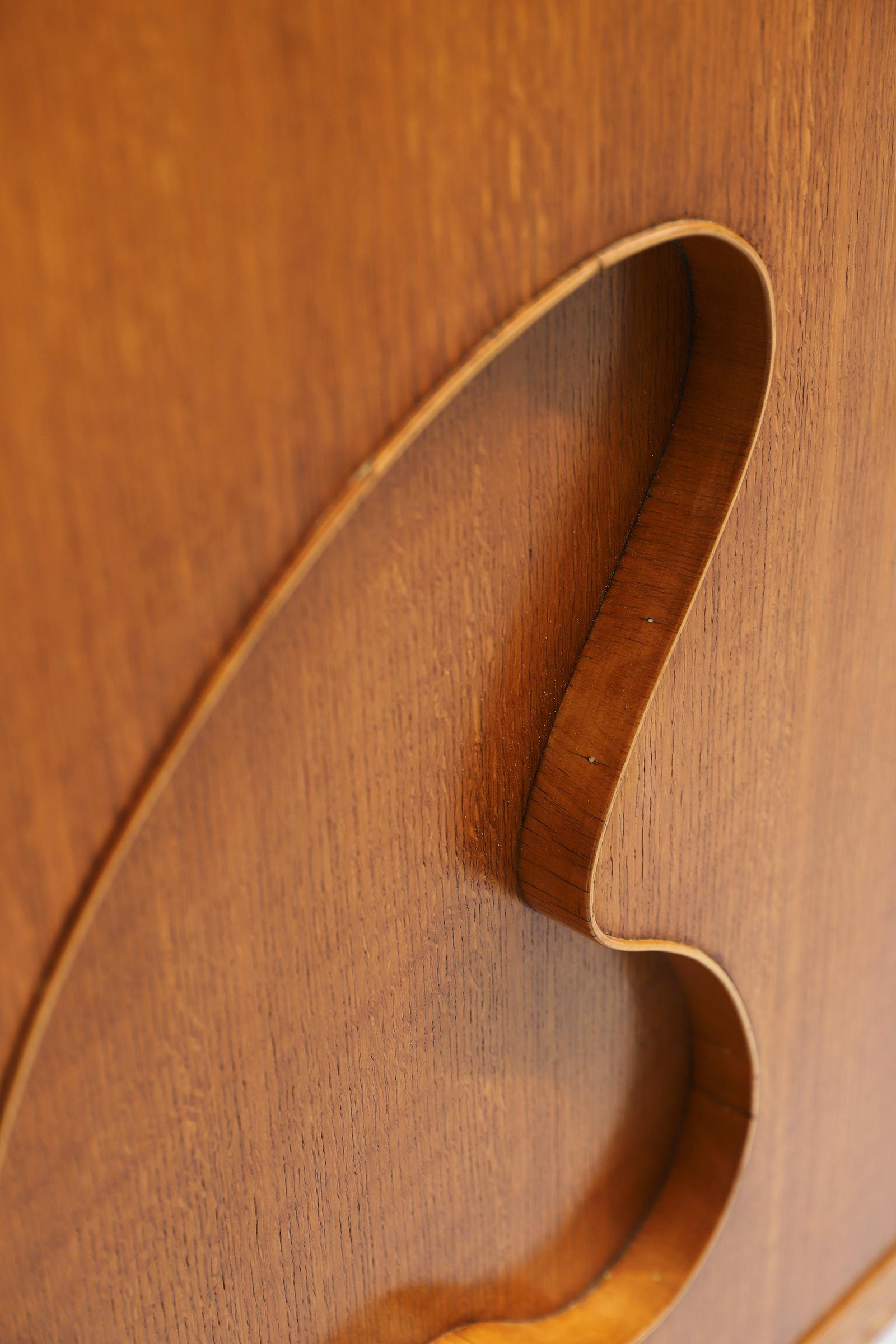 1950s Oak sideboard Free form Shaped Doors image 18