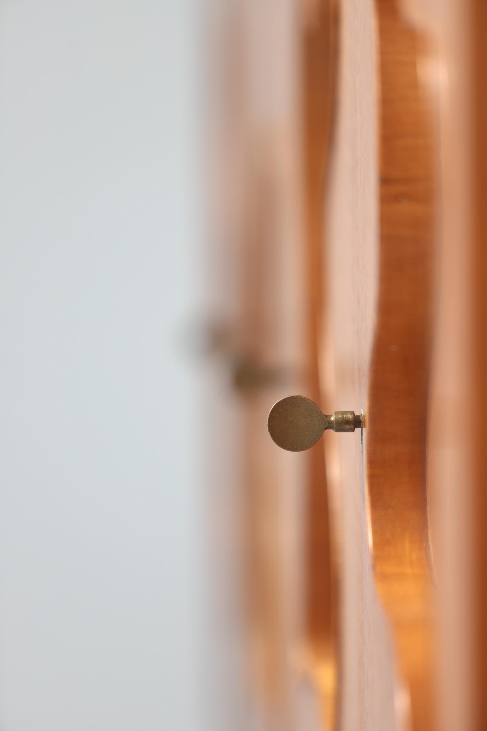 1950s Oak sideboard Free form Shaped Doors image 14