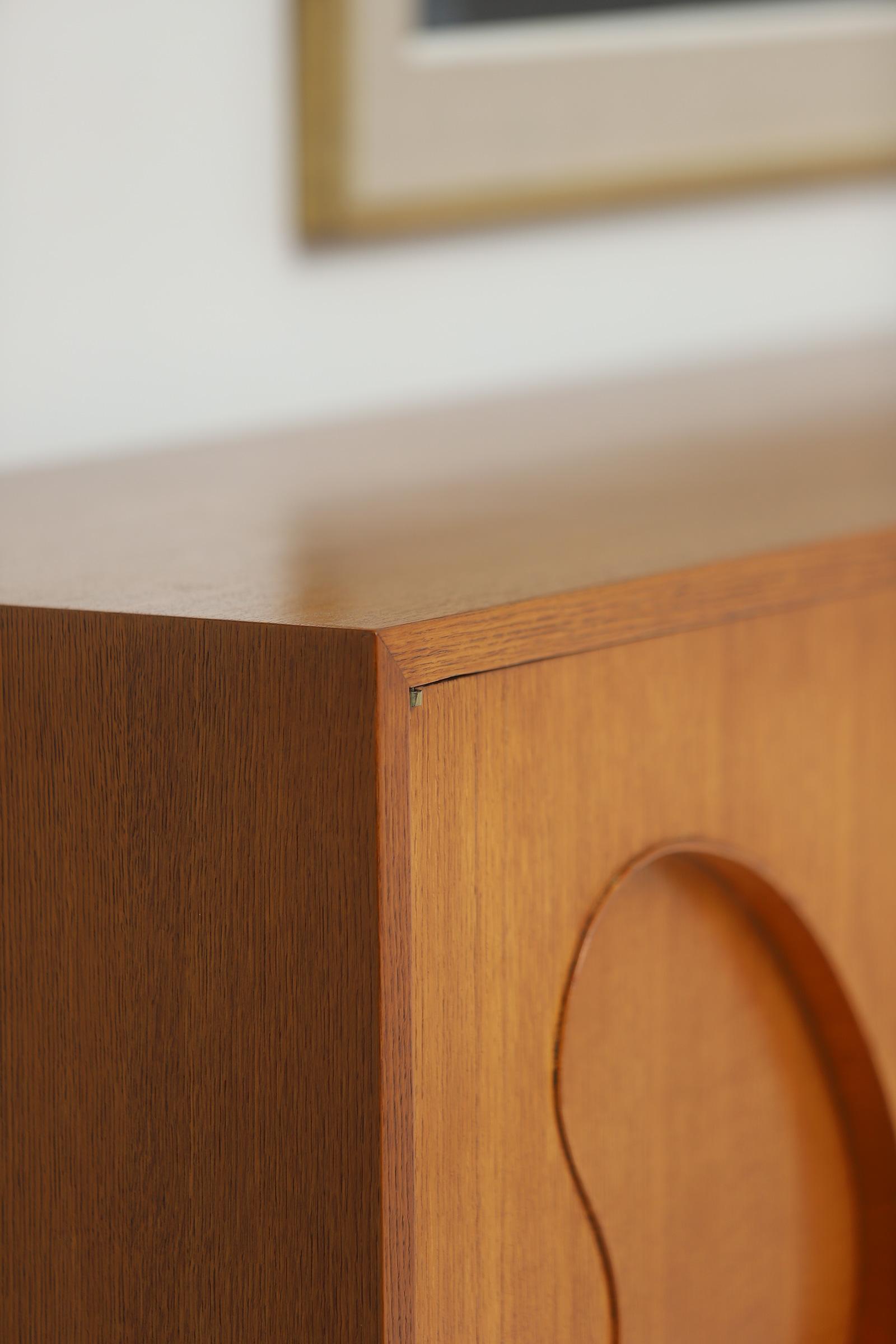 1950s Oak sideboard Free form Shaped Doors image 20