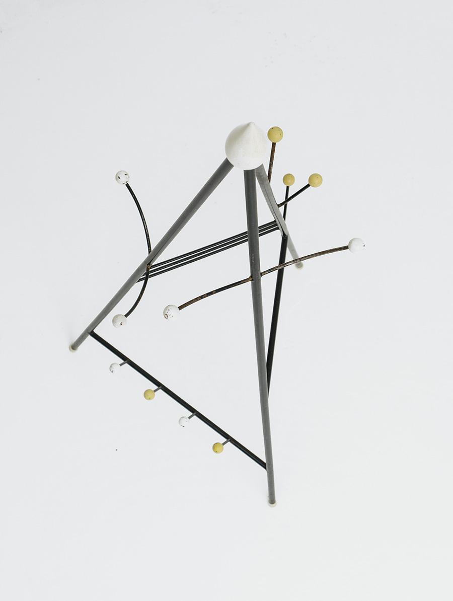 Joan Miro inspired atomic coat stand