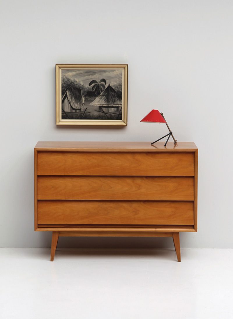 1950s Walnut Dresser / Chest image 1