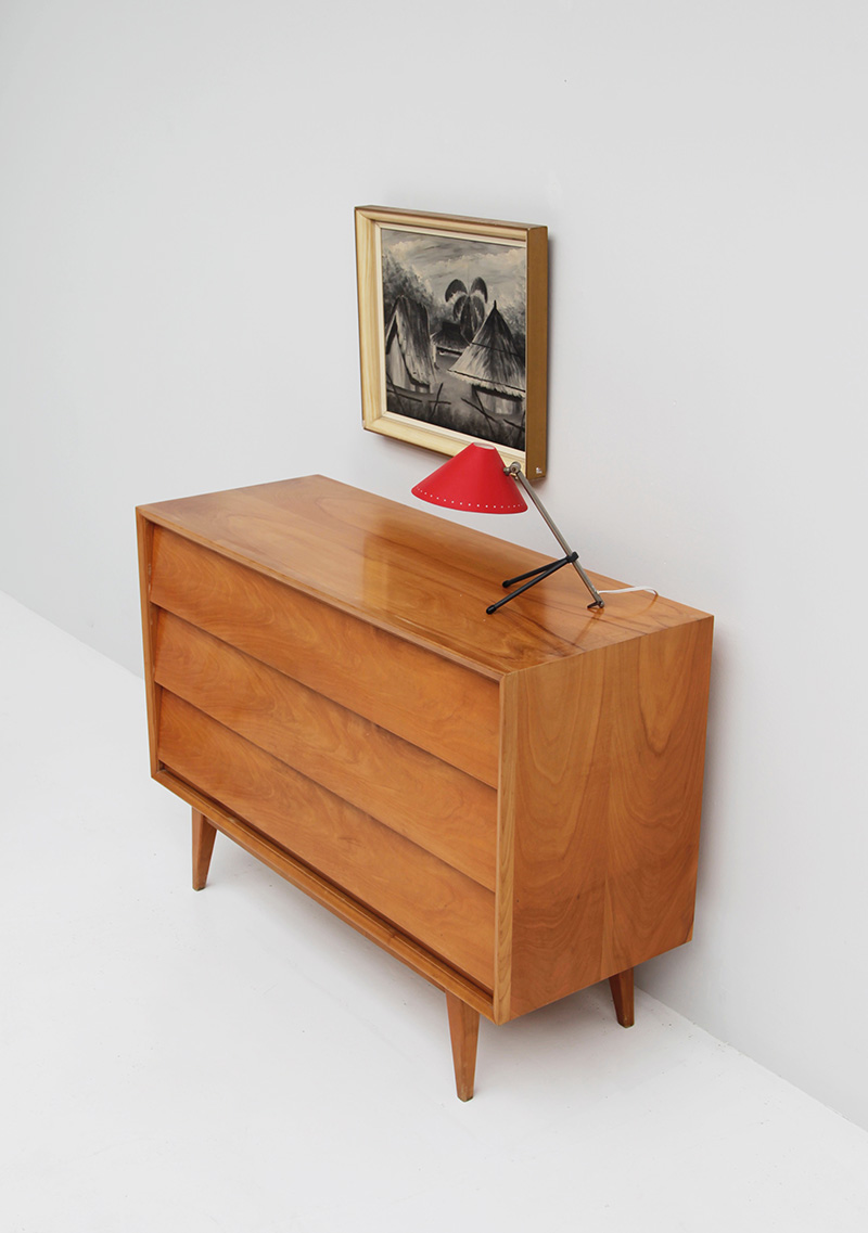 1950s Walnut Dresser / Chest image 2