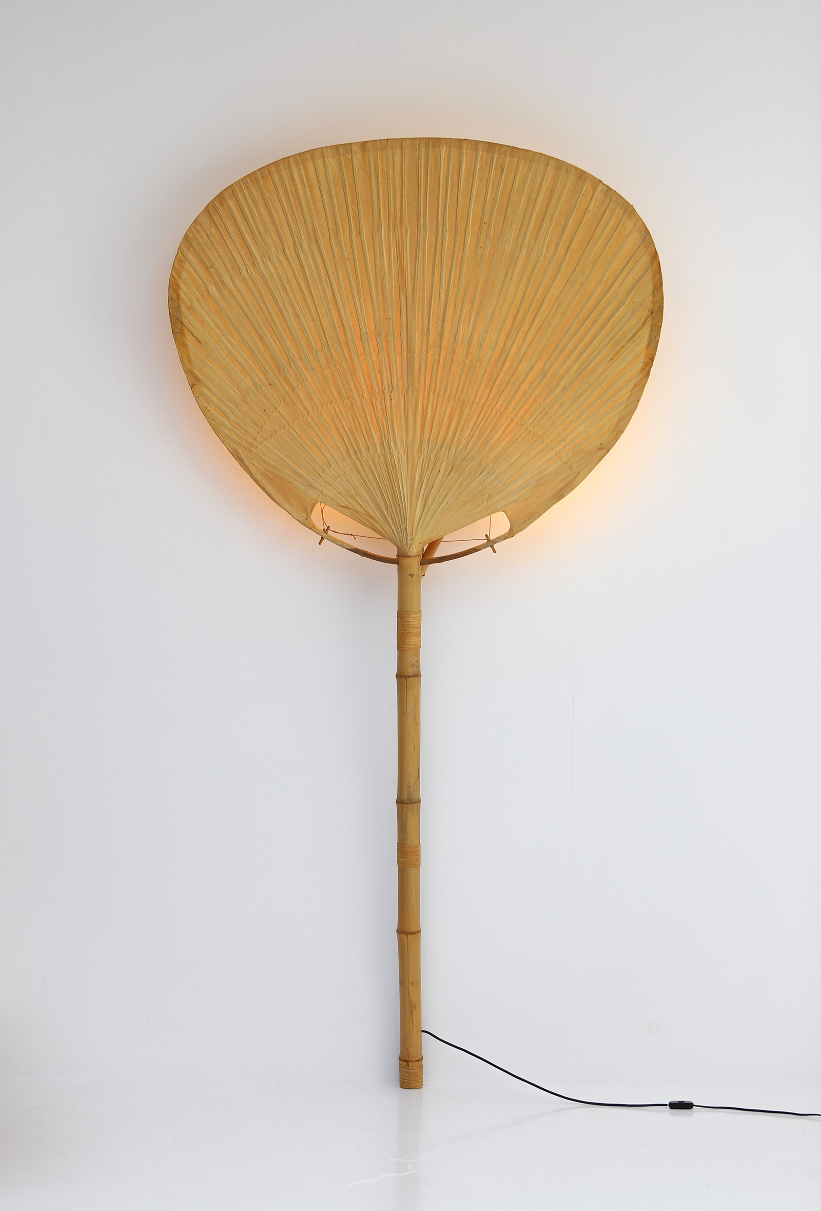Large Uchiwa Floor Lamp by Ingo Maurer, 1977image 2