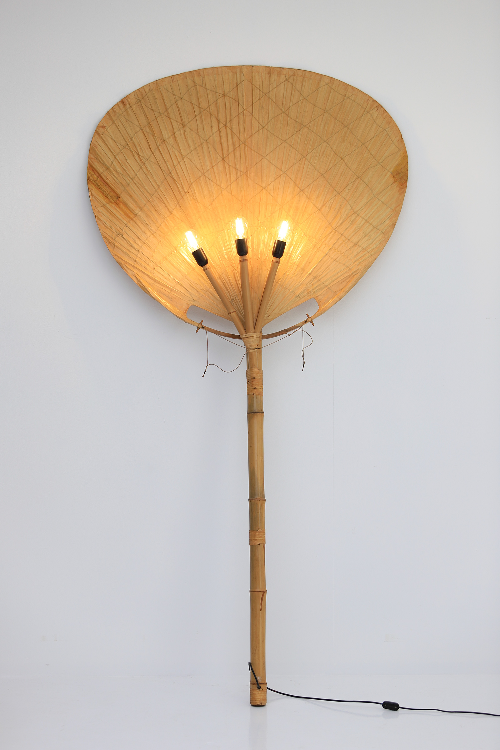 Large Uchiwa Floor Lamp by Ingo Maurer, 1977image 7