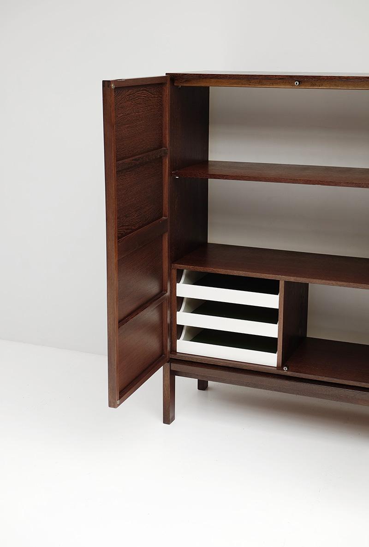 Minimalist Wenge high sideboard