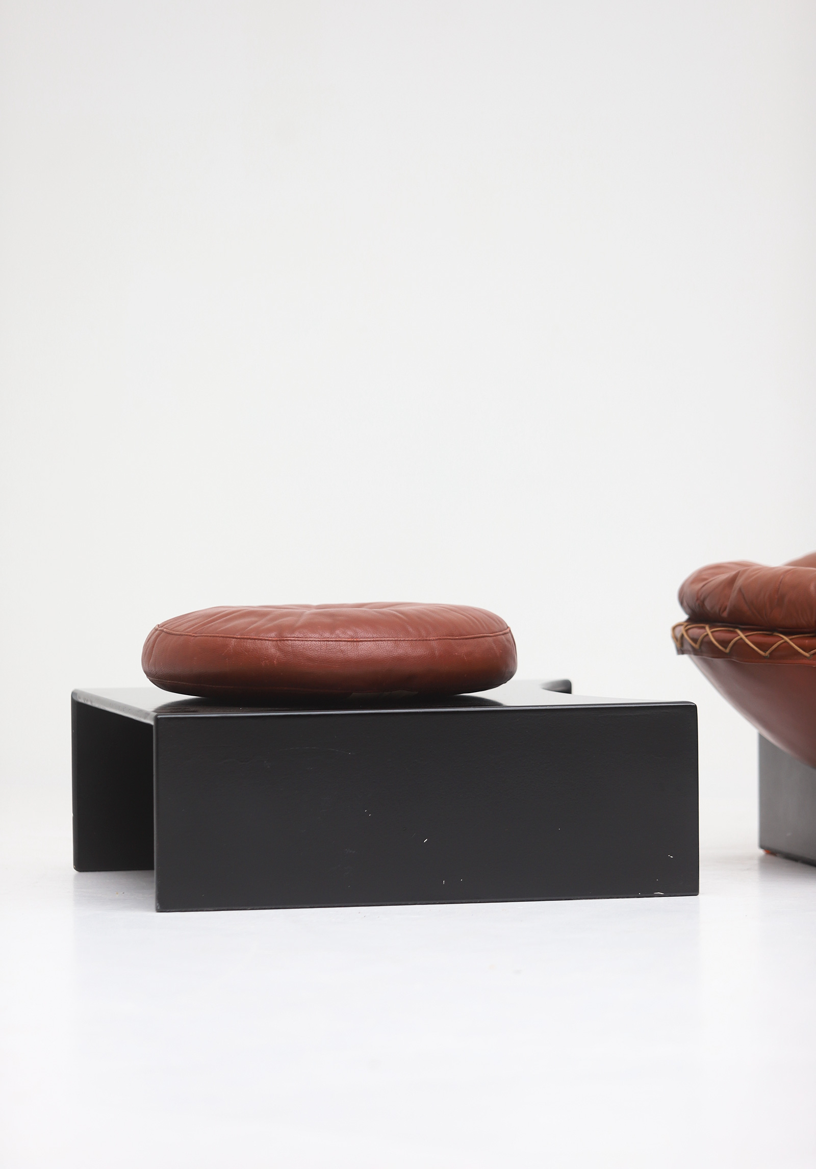 Leather Lounge Chairs by Illum Wikkelso for Ryesberg 1970simage 14