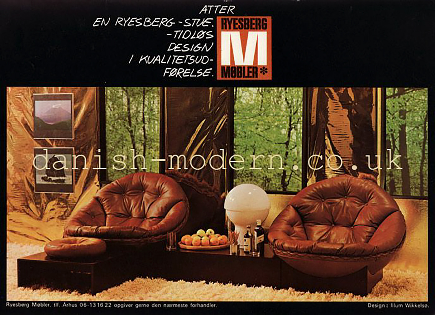 Leather Lounge Chairs by Illum Wikkelso for Ryesberg 1970simage 19