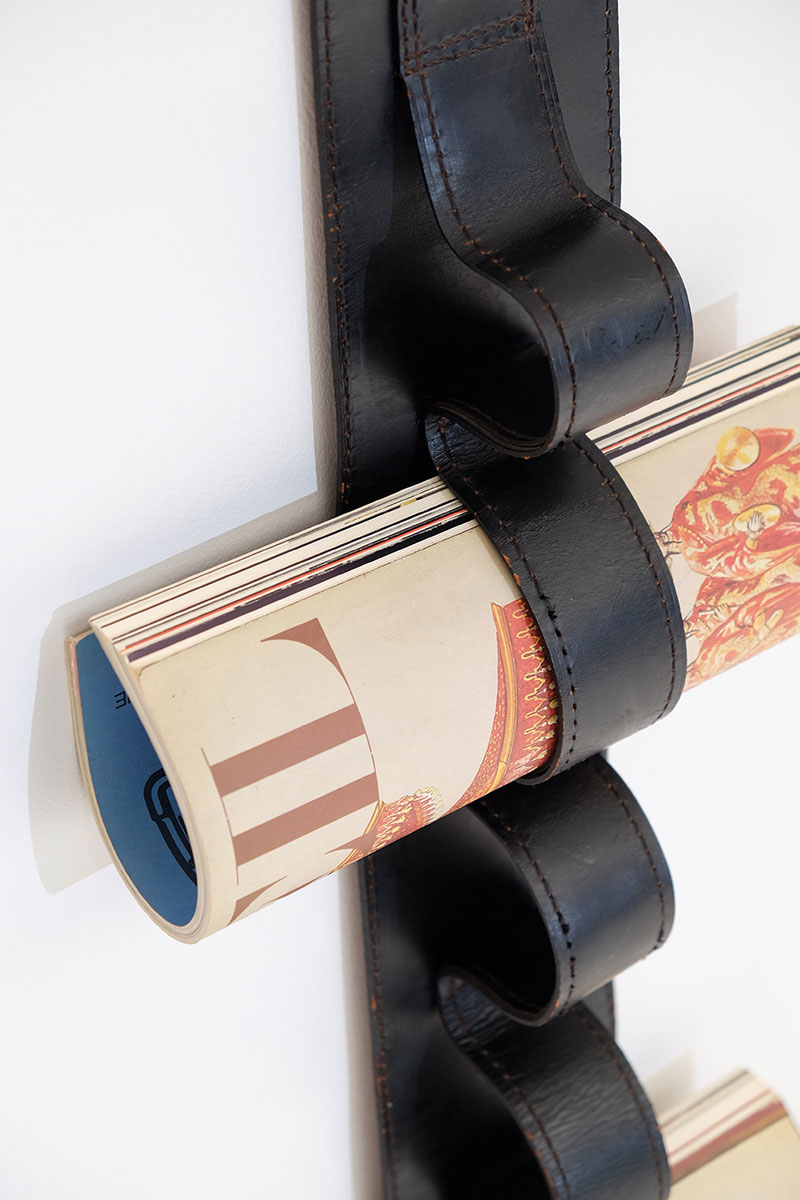 Jacques Adnet Wall Hung Leather Book Strap  image 7