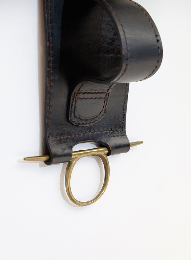 Jacques Adnet Wall Hung Leather Book Strap  image 6