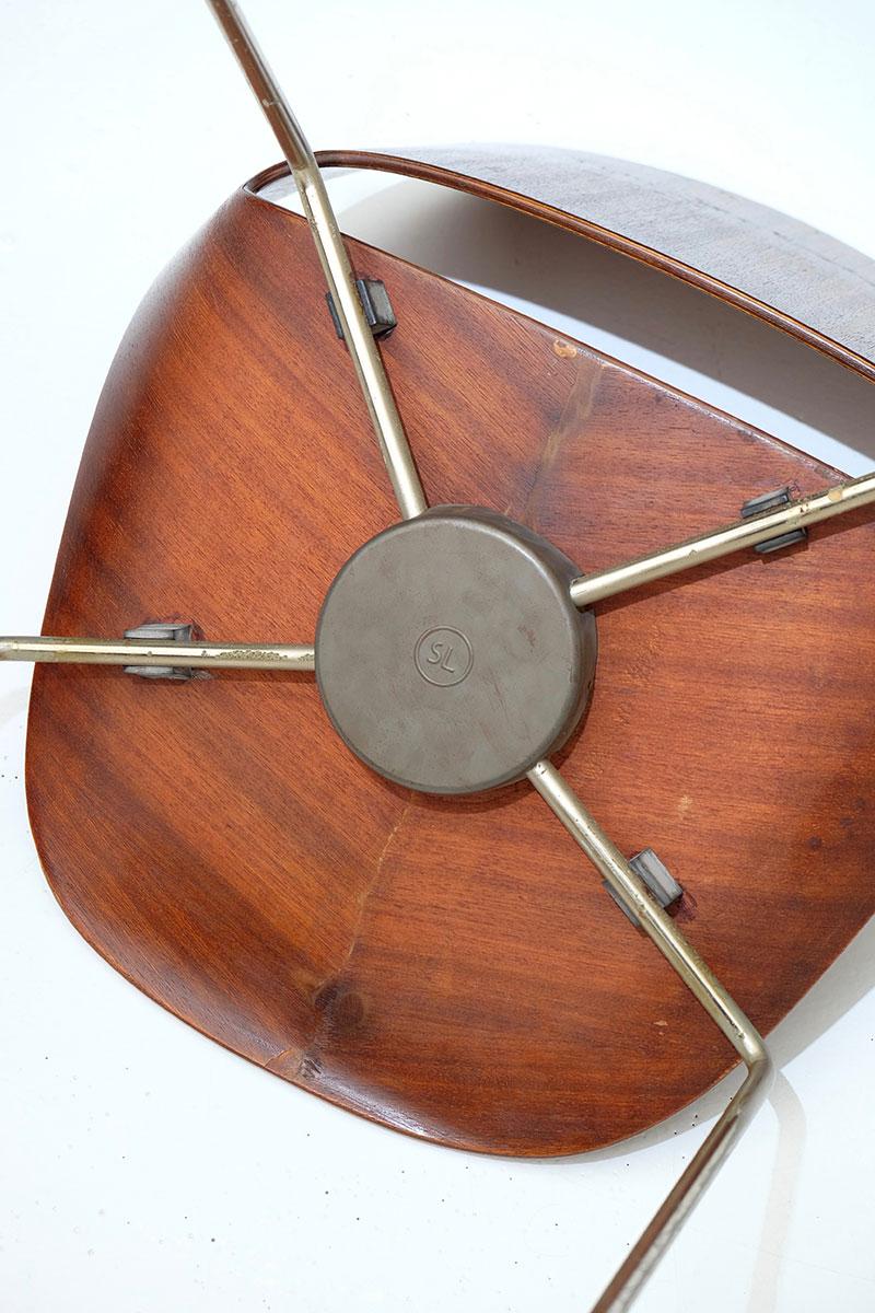 Leon Stynen rare set of 5 chair image 11