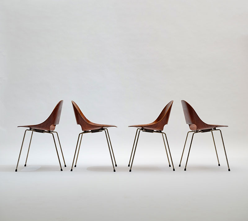 Leon Stynen rare set of 5 chair image 1