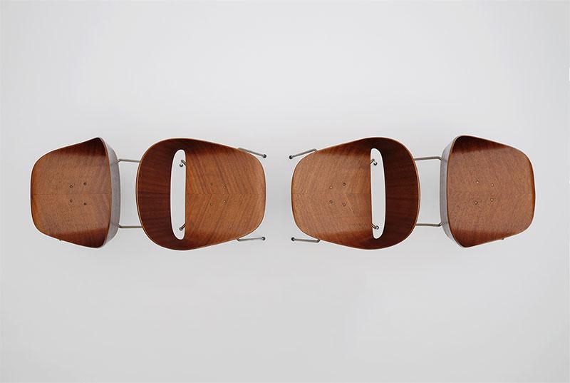 Leon Stynen rare set of 5 chair image 2