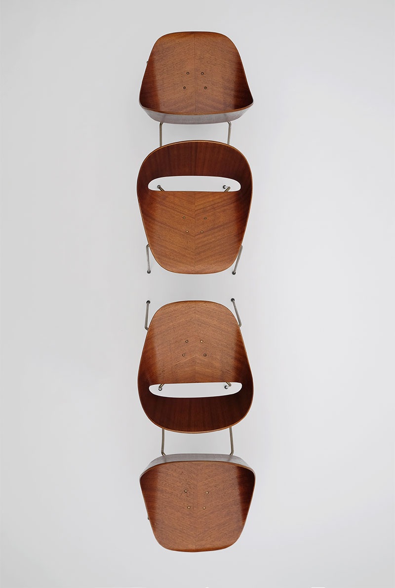 Leon Stynen rare set of 5 chair image 12