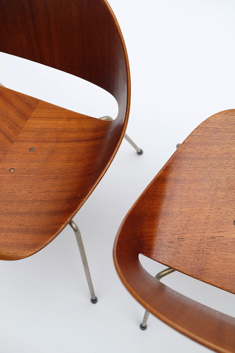 Leon Stynen rare set of 5 chair image 10