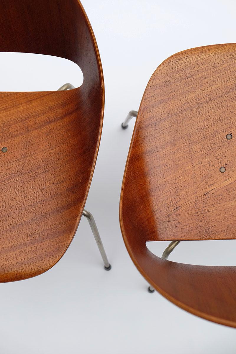 Leon Stynen rare set of 5 chair image 4